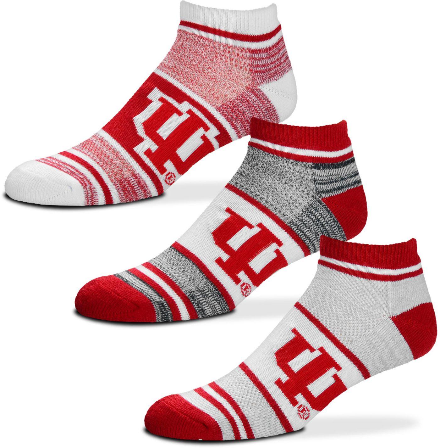 For Bare Feet Indiana Hoosiers 3 Pack Socks