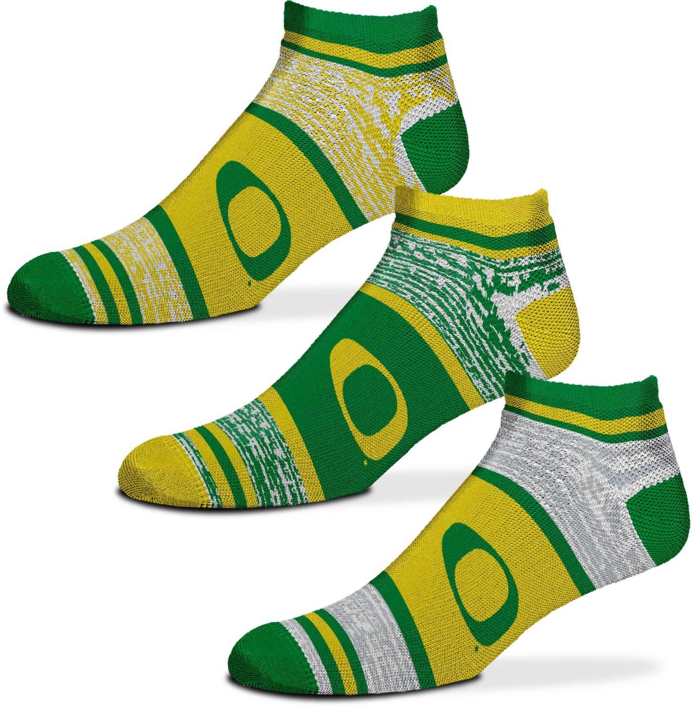 For Bare Feet Oregon Ducks 3 Pack Socks