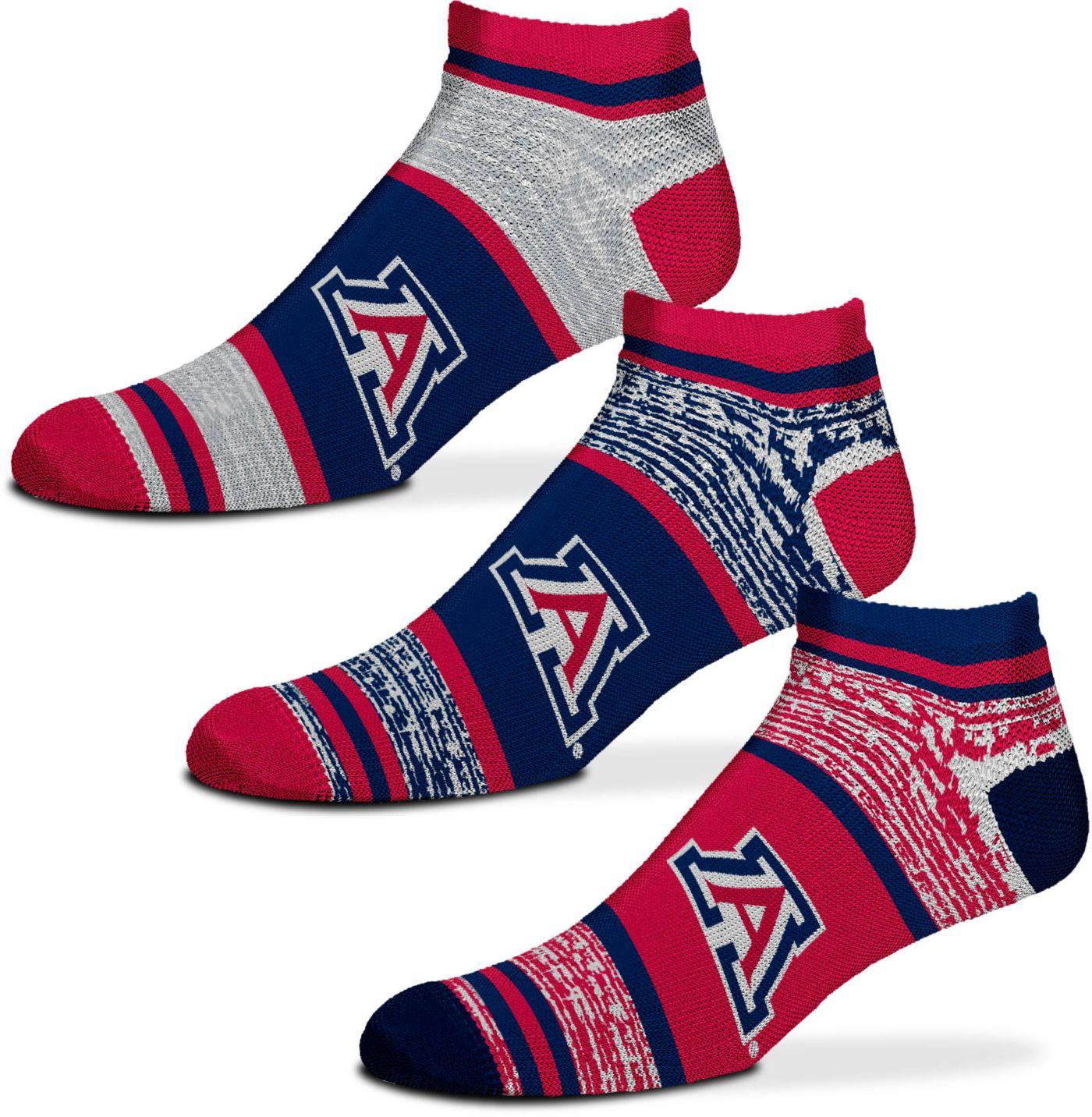 For Bare Feet Arizona Wildcats 3 Pack Socks