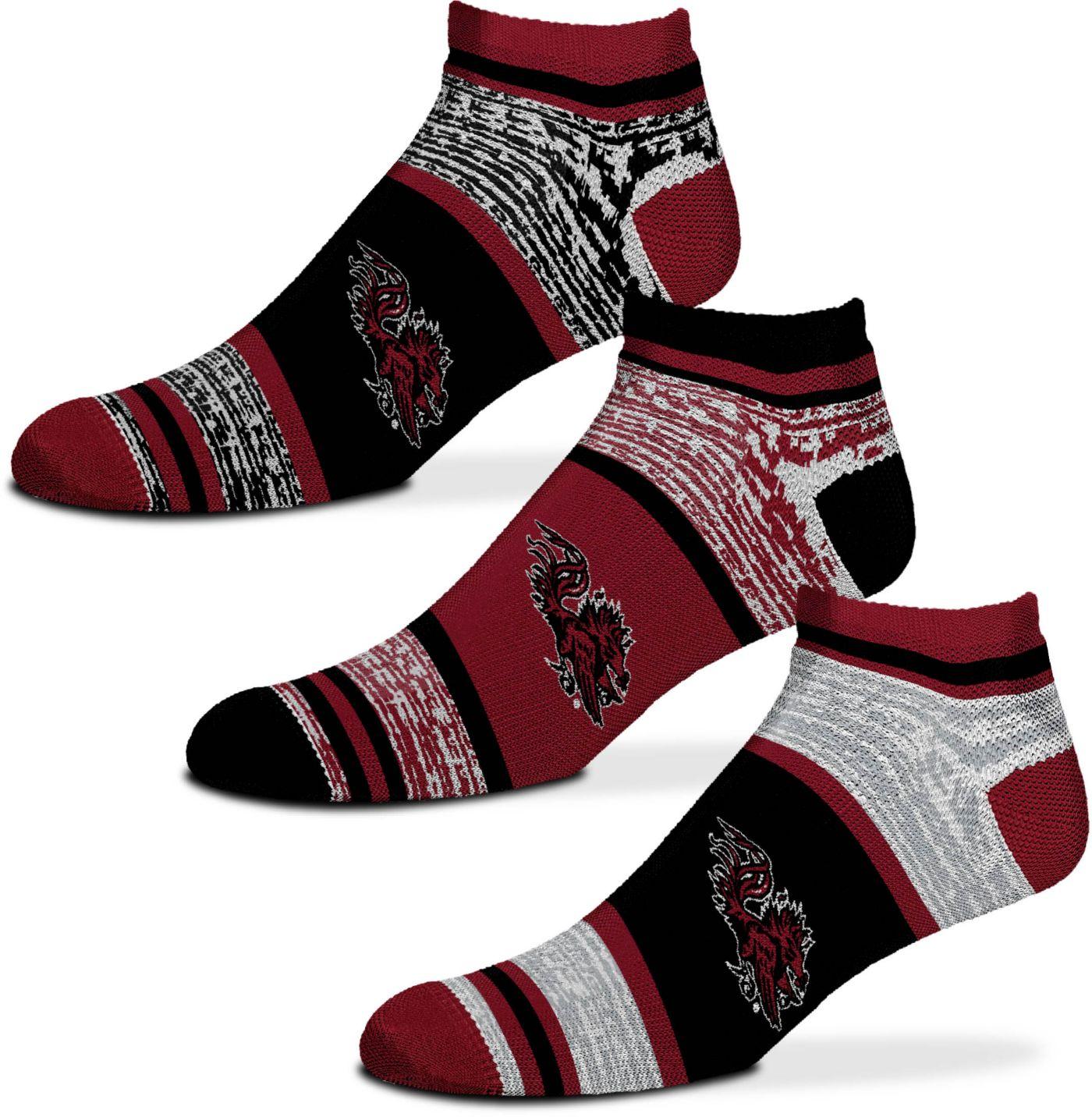 For Bare Feet South Carolina Gamecocks 3 Pack Socks