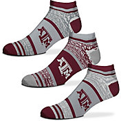 For Bare Feet Texas A&M Aggies 3 Pack Socks