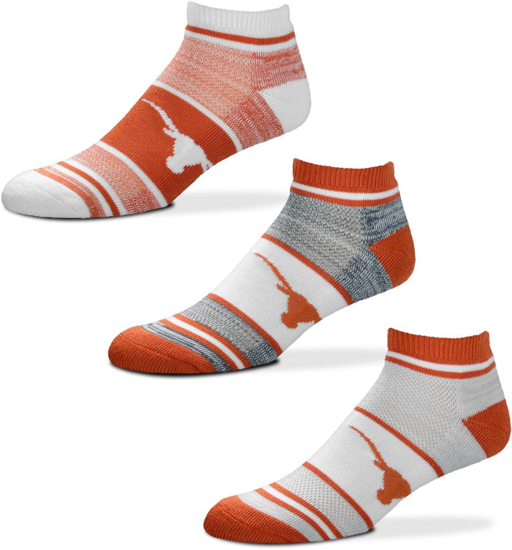 For Bare Feet Texas Longhorns 3 Pack Socks