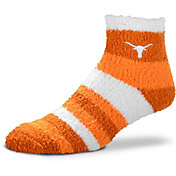 For Bare Feet Texas Longhorns Cozy Crew Socks