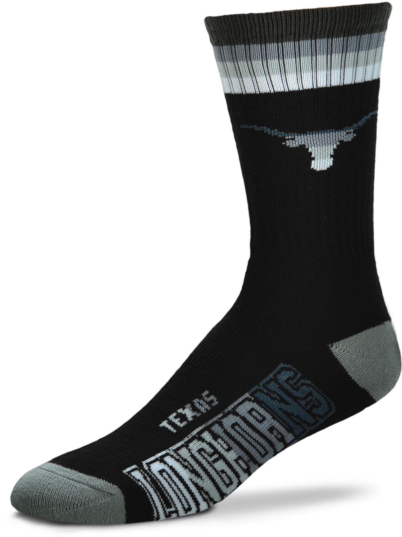 For Bare Feet Texas Longhorns Platinum Crew Socks