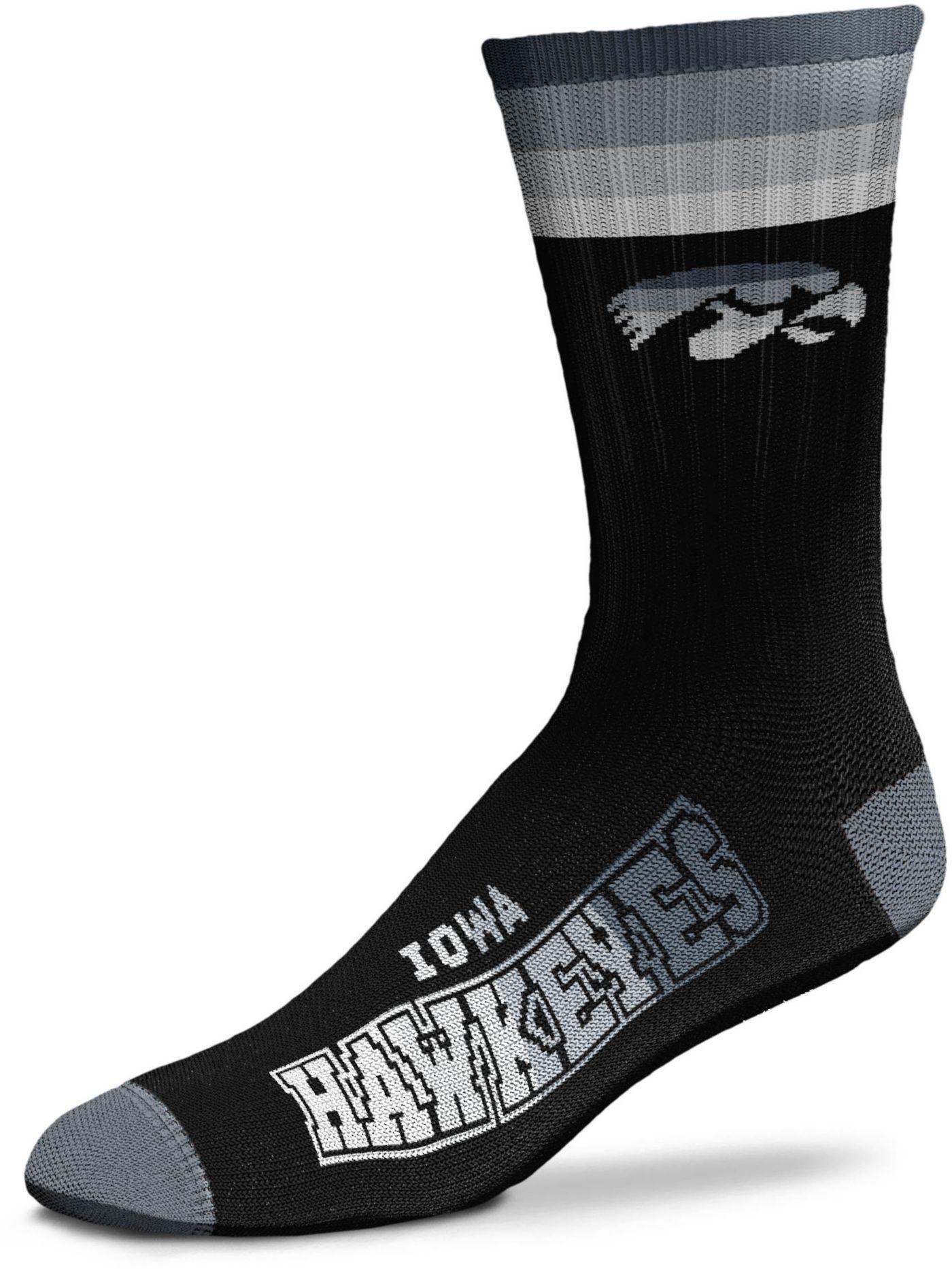 For Bare Feet Iowa Hawkeyes Platinum Crew Socks