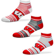 For Bare Feet Wisconsin Badgers 3 Pack Socks