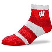 For Bare Feet Wisconsin Badgers Cozy Crew Socks