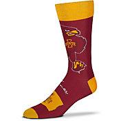 For Bare Feet Iowa State Cyclones Thin Crew Socks