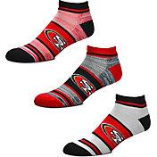 For Bare Feet San Francisco 49ers 3 Pack Socks