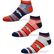 For Bare Feet Denver Broncos 3 Pack Socks