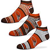 For Bare Feet Cleveland Browns 3 Pack Socks