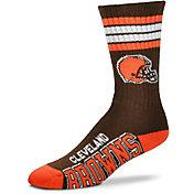 For Bare Feet Cleveland Browns Four Stripe Deuce Socks