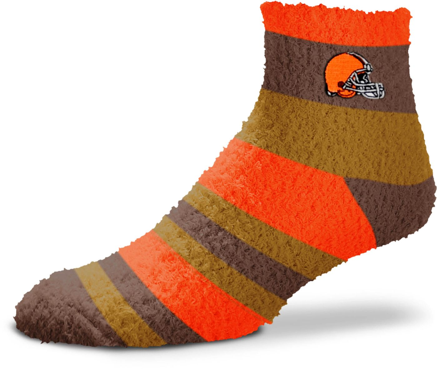 For Bare Feet Cleveland Browns Cozy Crew Socks