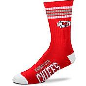 For Bare Feet Kansas City Chiefs Four Stripe Deuce Socks