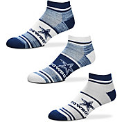 For Bare Feet Dallas Cowboys 3 Pack Socks