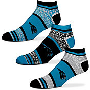 For Bare Feet Carolina Panthers 3 Pack Socks