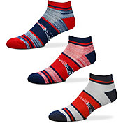 For Bare Feet New England Patriots 3 Pack Socks
