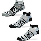 For Bare Feet Oakland Raiders 3 Pack Socks