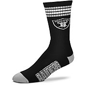 For Bare Feet Las Vegas Raiders Four Stripe Deuce Socks