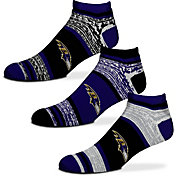 For Bare Feet Baltimore Ravens 3 Pack Socks