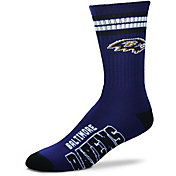 For Bare Feet Baltimore Ravens Four Stripe Deuce Socks