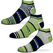For Bare Feet Seattle Seahawks 3 Pack Socks