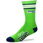For Bare Feet Seattle Seahawks 4-Stripe Deuce Socks