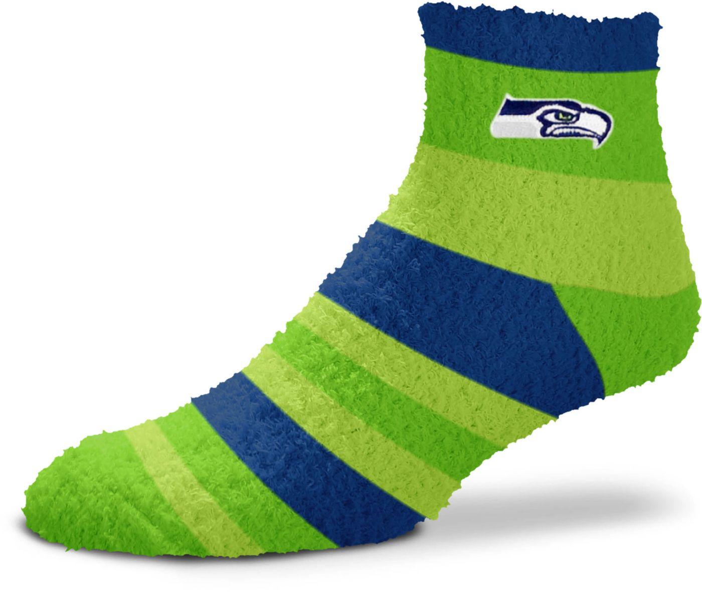 For Bare Feet Seattle Seahawks Cozy Crew Socks