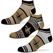 For Bare Feet New Orleans Saints 3 Pack Socks