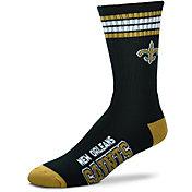 For Bare Feet New Orleans Saints Four Stripe Deuce Socks