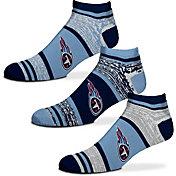 For Bare Feet Tennessee Titans 3 Pack Socks