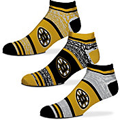 For Bare Feet Boston Bruins 3 Pack Socks