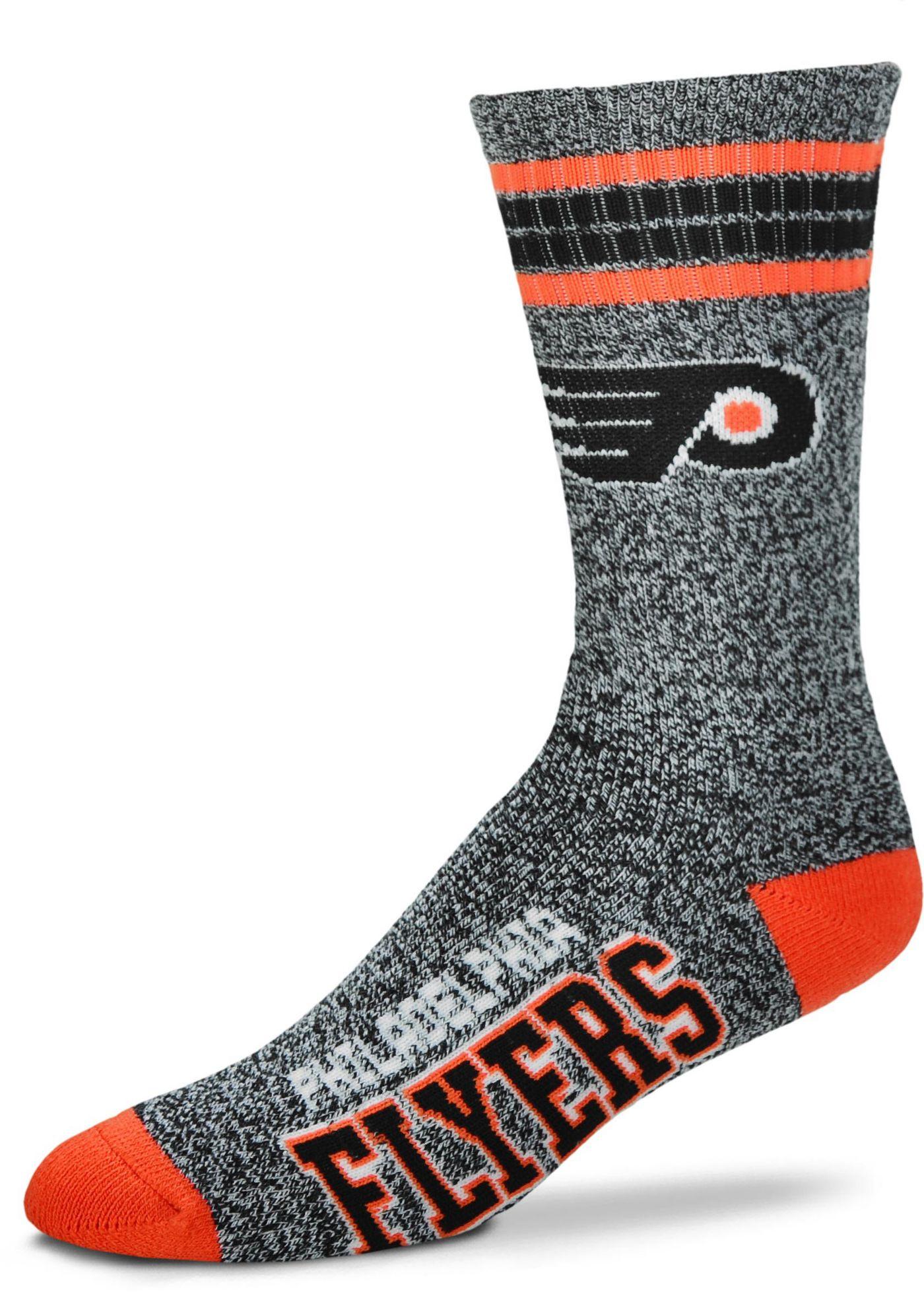 For Bare Feet Philadelphia Flyers Marbled Four Stripe Deuce Socks