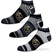 For Bare Feet Vegas Golden Knights 3 Pack Socks