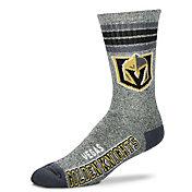 For Bare Feet Vegas Golden Knights Marbled Four Stripe Deuce Socks