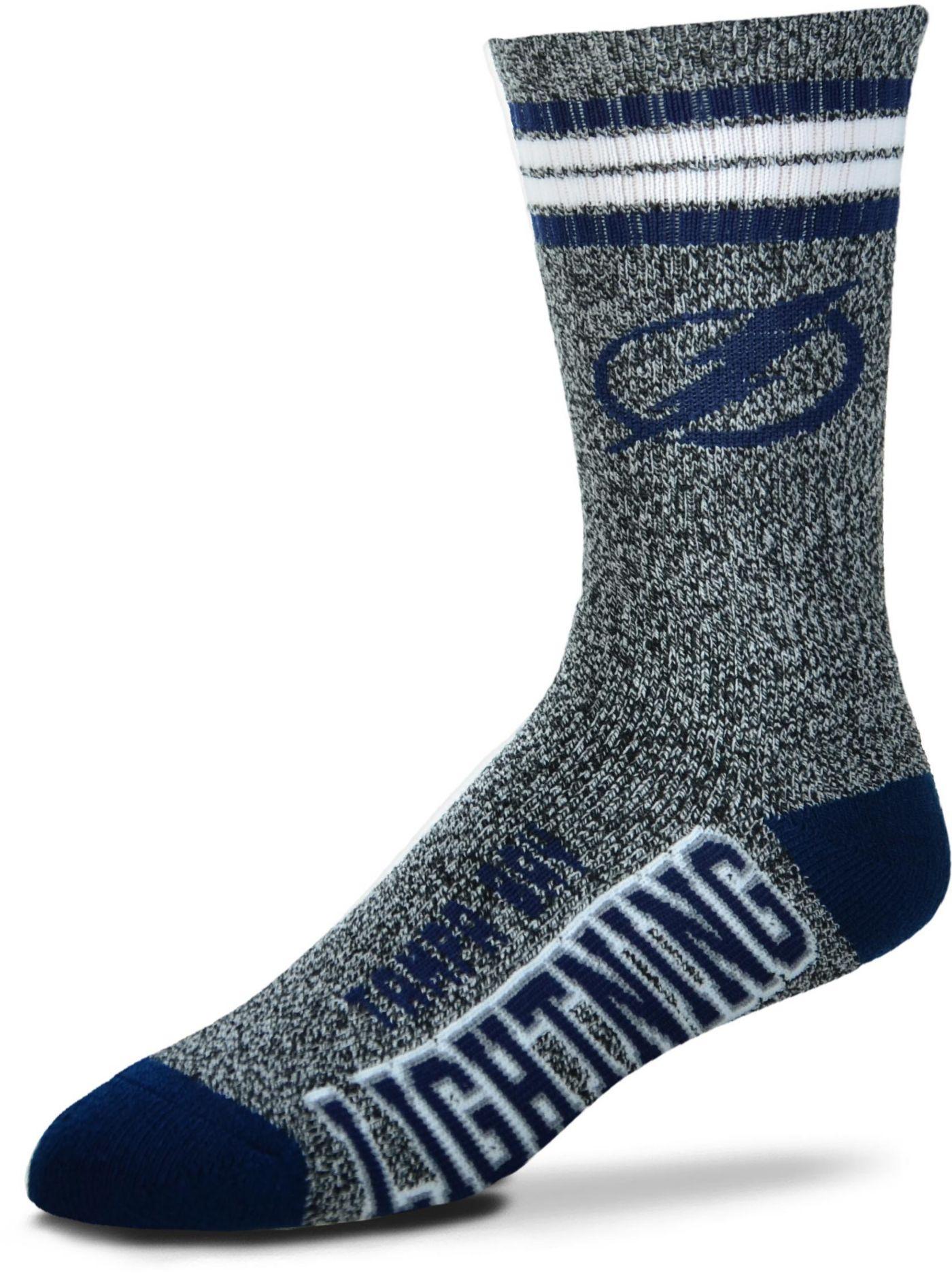 For Bare Feet Tampa Bay Lightning Marbled Four Stripe Deuce Socks