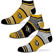 For Bare Feet Pittsburgh Penguins 3 Pack Socks