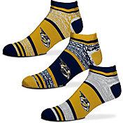 For Bare Feet Nashville Predators 3 Pack Socks