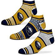 For Bare Feet Buffalo Sabres 3 Pack Socks