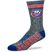 For Bare Feet New York Islanders Marbled Four Stripe Deuce Socks