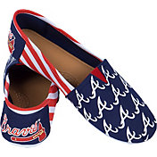 FOCO Atlanta Braves Striped Canvas Shoes