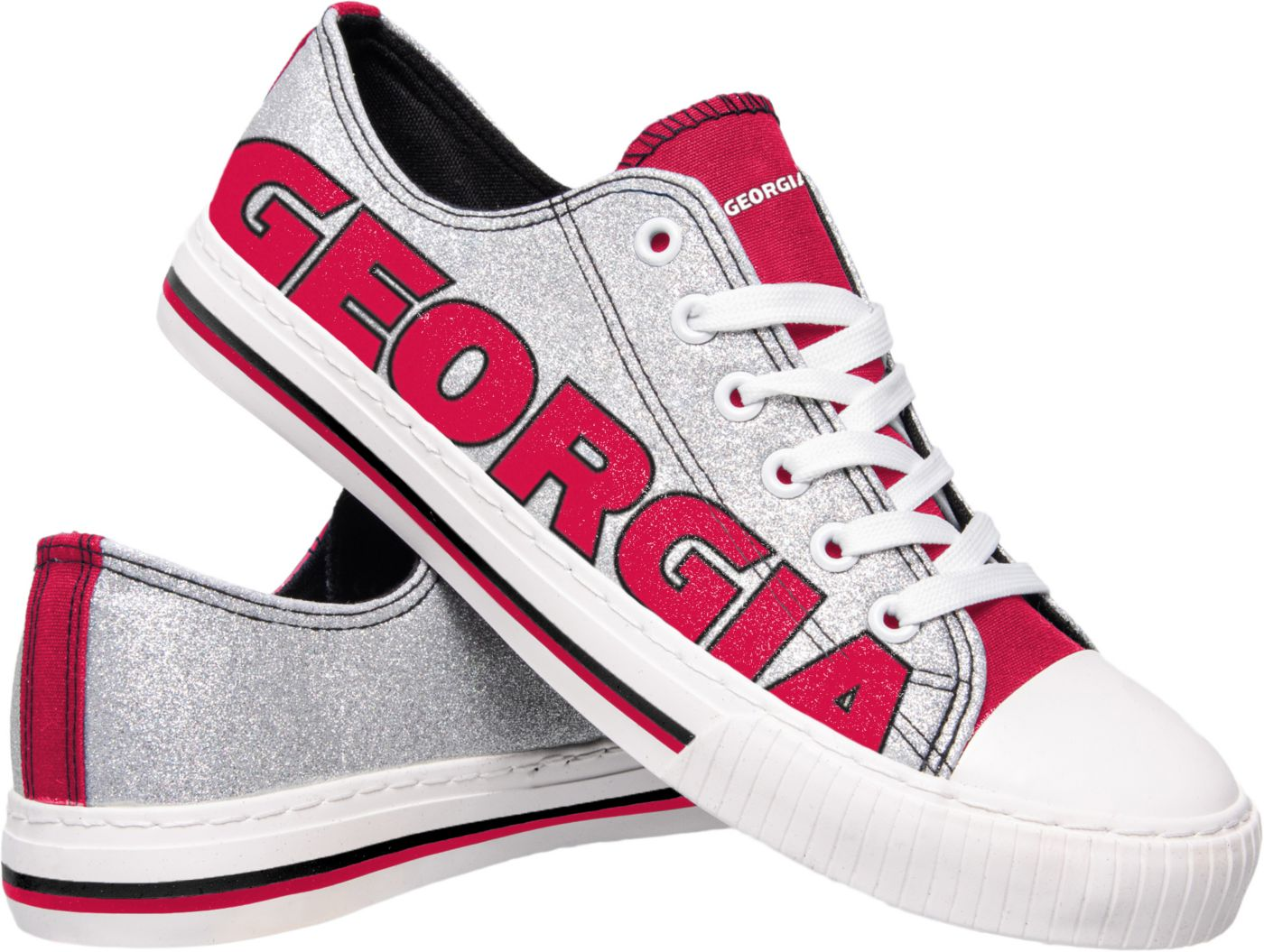 FOCO Georgia Bulldogs Women's Glitter Canvas Shoes
