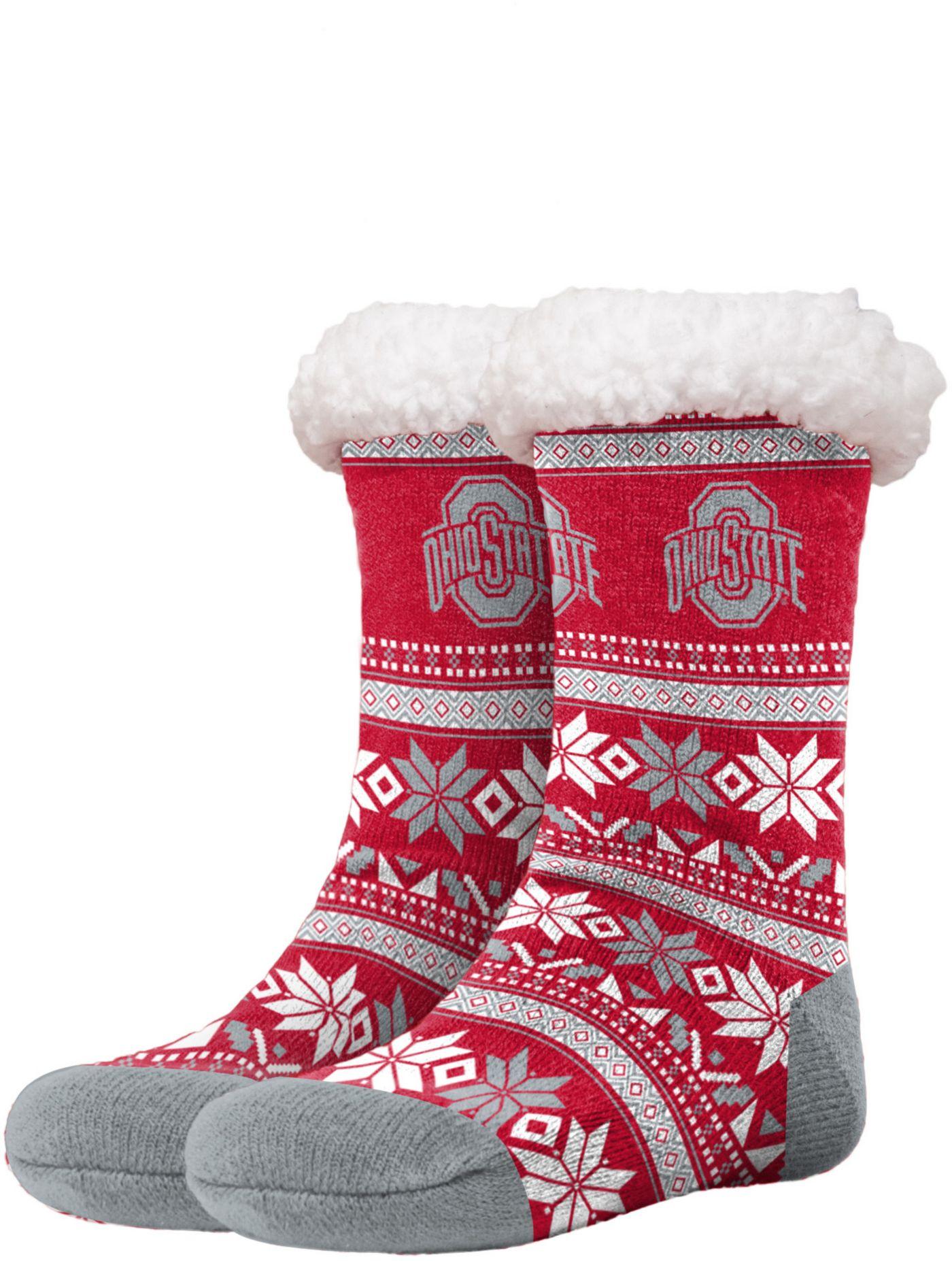 FOCO Ohio State Buckeyes Footy Slippers