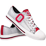 FOCO Ohio State Buckeyes Women's Glitter Canvas Shoes