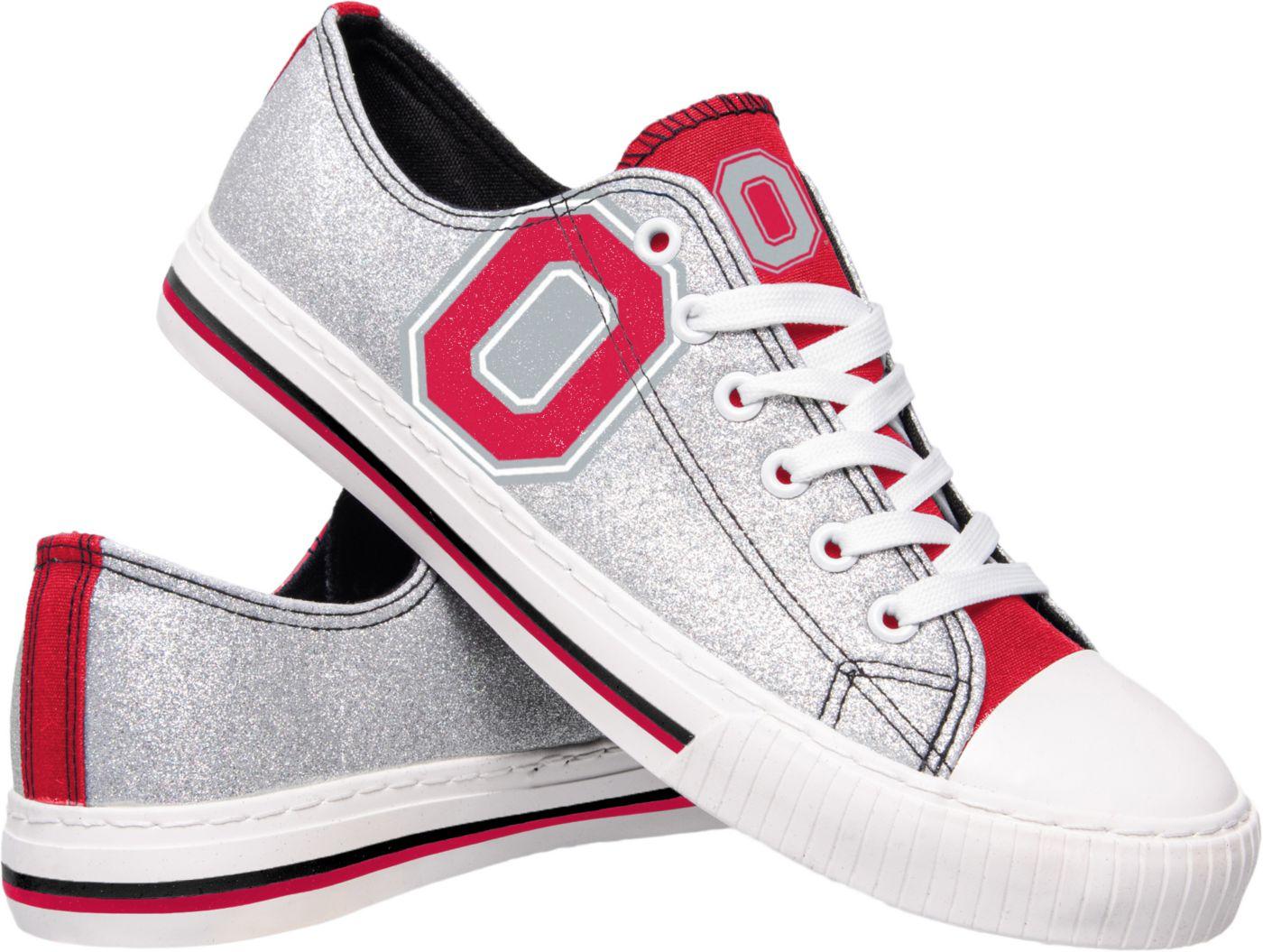 FOCO Ohio State Buckeyes Women's Glitter Canvas Shoes