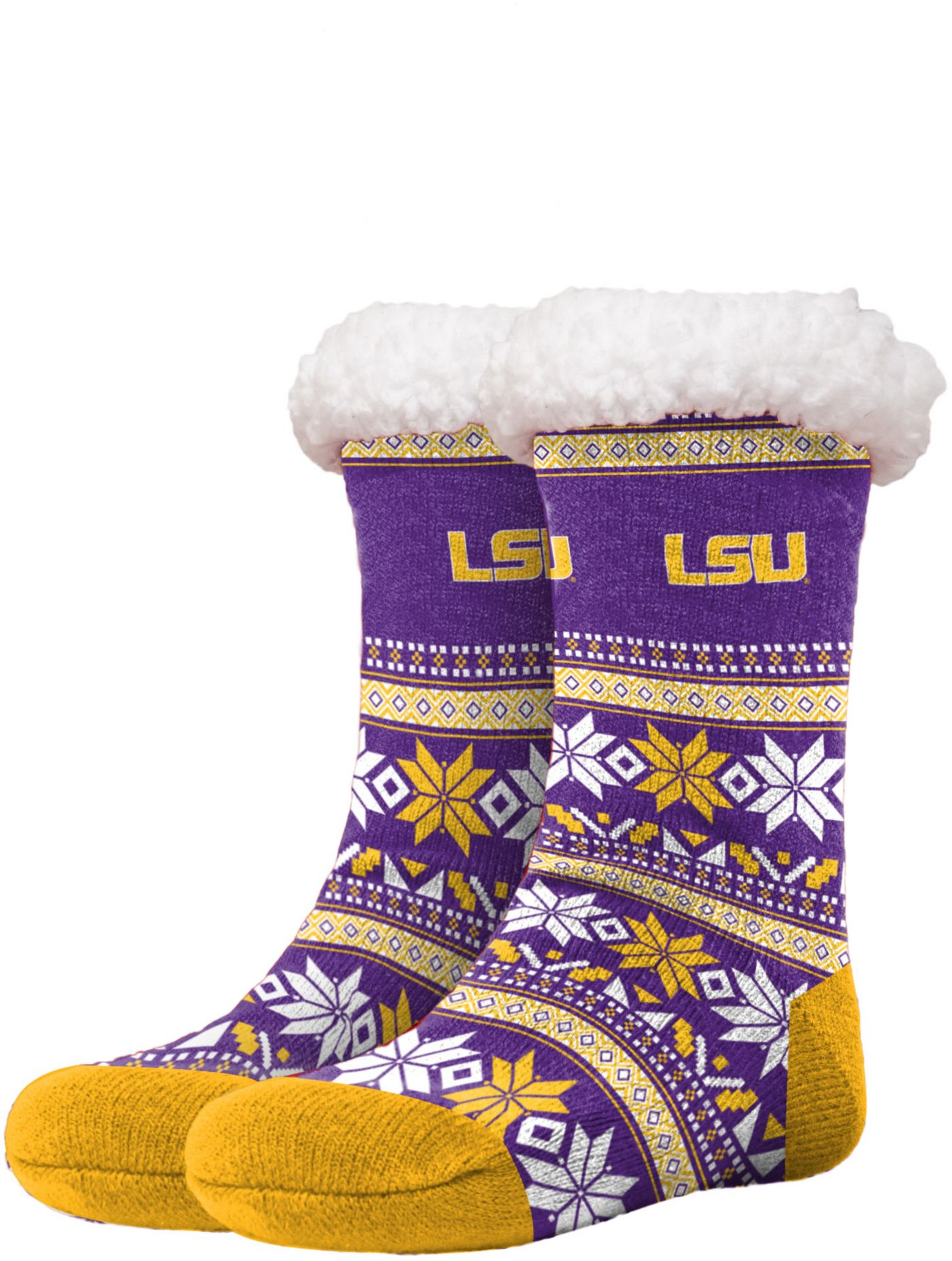 FOCO LSU Tigers Footy Slippers