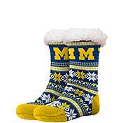 FOCO Michigan Wolverines Footy Slippers