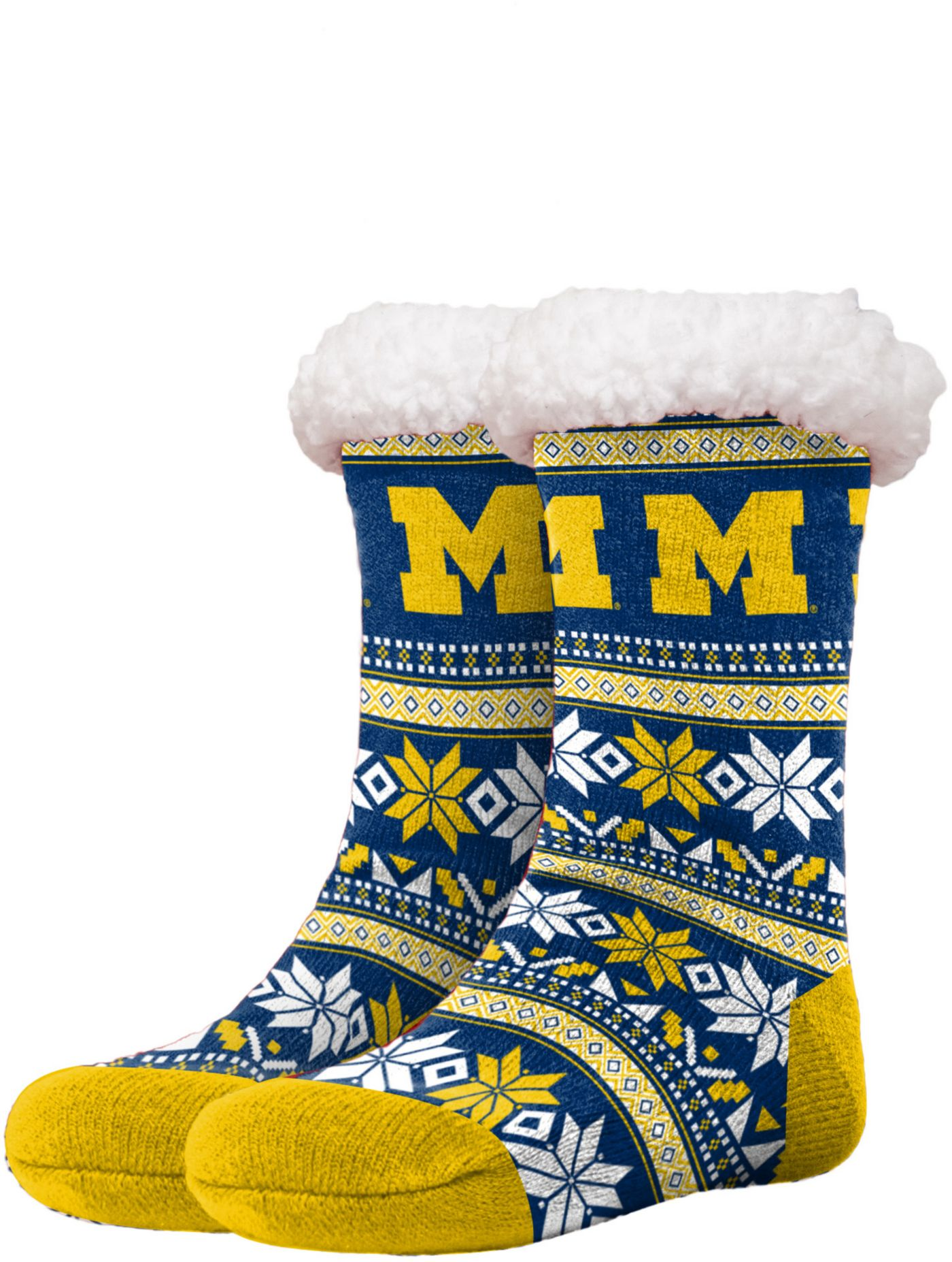 FOCO Michigan Wolverines Footy Slippers
