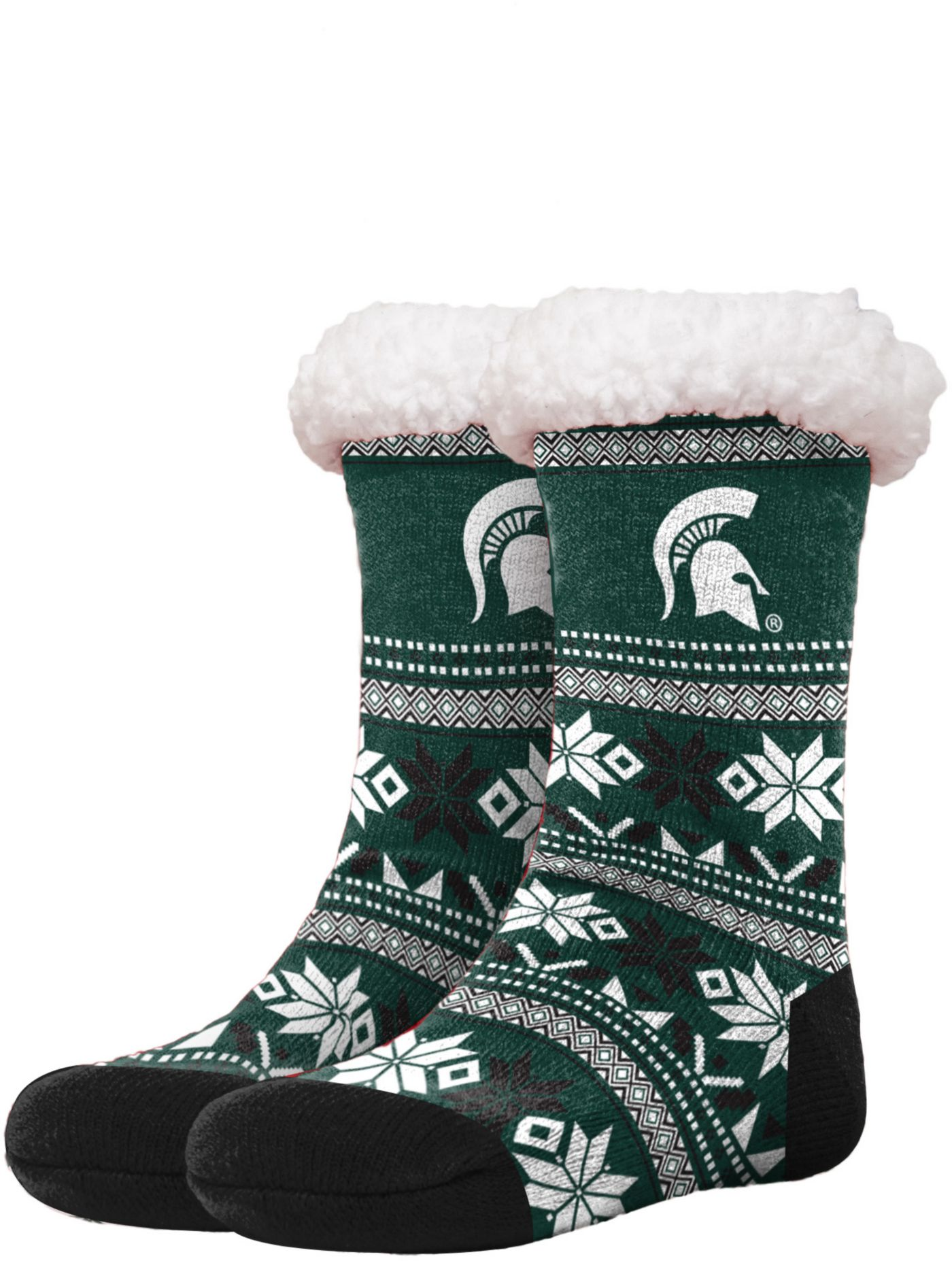 FOCO Michigan State Spartans Footy Slippers
