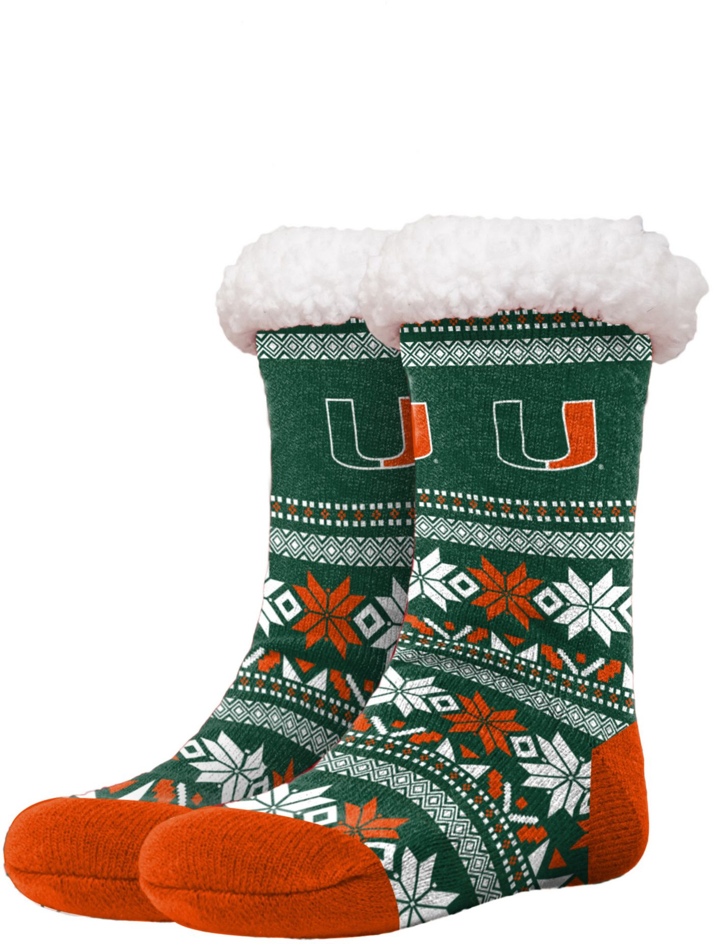 FOCO Miami Hurricanes Footy Slippers